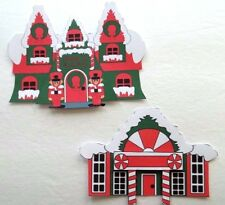3D - U Pick - HS1 Winter Christmas Houses Buildings Scrapbook Card Embellishment