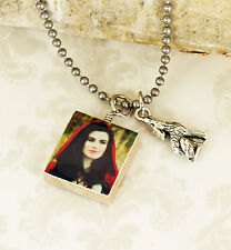 "Once Upon A Time ""Red Riding Hood"" Necklace With Wolf Charm OUAT Handmade"