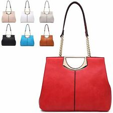 Ladies Designer Faux Leather Chain Style Handbag Shoulder Bag Tote Bag MA34701