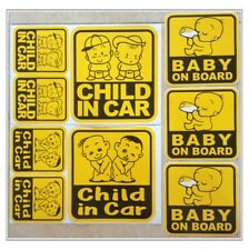Set 4 of Baby On Board Child in Car Family Safety Truck Vehicles Vinyl Sticker