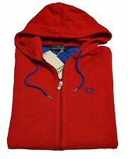 Sweatshirt Fred Perry Man Men Jumper jersey Full Zip hood red