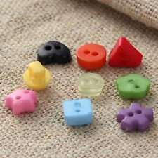 50pcs 2 Holes Resin Buttons Scrapbooking 6mm Decorative Buttons Apparel Sewing