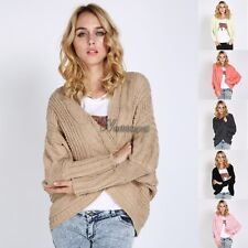 Woman Hot Loose Bat Sleeve Cardigan Knitting Thick Coat Shawl Sweater WT89