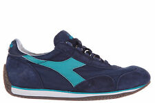 DIADORA HERITAGE WOMEN'S SHOES LEATHER TRAINERS SNEAKERS NEW HERITAGE BLUE FA4