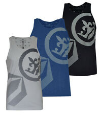 New Mens Crosshatch Gym/Tank Top Sleeveless Casual Summer Printed Vest