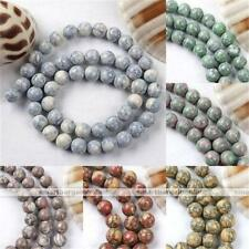 8mm Howlite Turquoise Gemstone Round Loose Bead For Charm Bracelet Necklace DIY