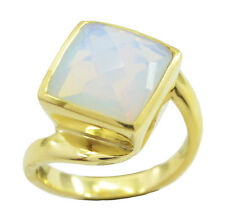 Fire Opal CZ Gold Plated Ring dollish White india AU K,M,O,Q