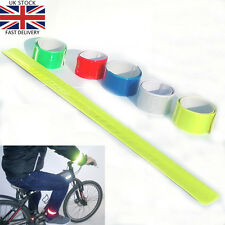 2 x High Visibility Reflective Safety Slap Wrap Arm Ankle Band Jogging Cycling