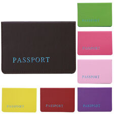 Travel Passport Holder Protector ID Card  Cover Wallet Pouch Faux Leather Case