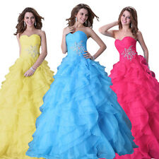 New Beads Quinceanera Dress Ball Gown Prom Evening Party Pageant Wedding Dresses