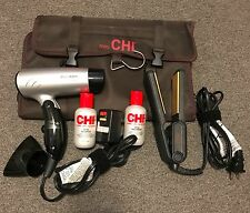 CHI PRO MINI FLAT IRON AND BLOW DRYER SET WITH TRAVEL BAG