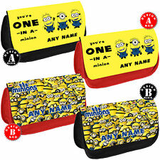 MINIONS Personalised Pencil Case Girls Make up Bag School Name Gift Despicable
