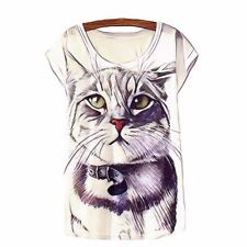 Women Short Sleeve O-Neck Tops Print  Tees Fashion Casual T Shirt For Ladies