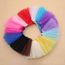 Kid Children Girls Dancewear Multicolor Tulle Tutu Skirt Princess Dressup