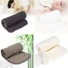 Reusable Bamboo Cloth Washable Diaper Insert Nappy Pad  Liner 3/4/5 Layers CLCL