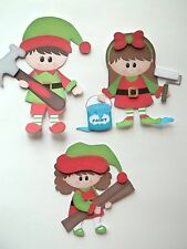 3D - U Pick - XM18 Christmas Elves Carolers Santa Card Scrapbook Embellishment