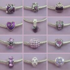 ~ Mauve Style Charms ~ 99p Each ~ Buy 4 Get 1 Free ~ Organza Gift Bag ~