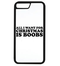 All I Want For Christmas Is Boobs Funny Xmas Phone Case iPhone Cover