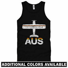 Fly Austin AUS Airport Unisex Tank Top - Men Women XS-2X - Plane Airplane Pilot