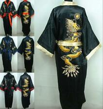 Double-Face Chinese Dragon Men's Kimono Robe Gown Bathrobe Dress M L XL XXL XXXL
