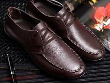 Mens Casual Flats Pointy toe Lace-up Loafers Driving Moccasins Casual Shoes new