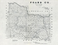 1891 Farm Line Map of Foard County Texas