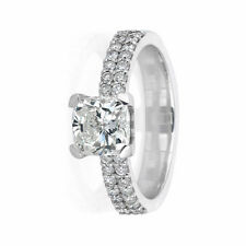 Diamond Engagement Ring Certified 1.5 CT G Si1 14K White Gold Size 5.5 Enhanced