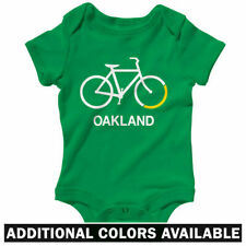 Bike Oakland One Piece - Baby Infant Creeper Romper NB-24M - Bicycle Cycling CA