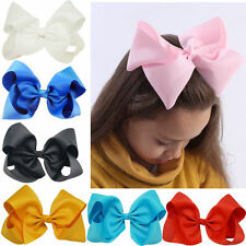 8 Inch Large Grosgrain Ribbon Knot BowKnot Hair Bow Alligator Clip For Girl