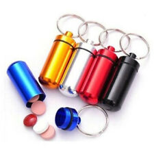 Mini Pill Box Key Chain Drug Container Medicine Holder Outdoor Cute Key Ring