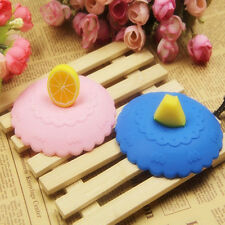 Hots Magical Fruit Glass Cup Cover Coffee Mug Lid Silicone Suction Leakproof