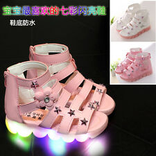 New Girls light shoes children led sandals students flash shoes baby shoes shoes