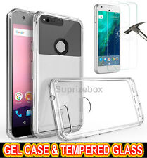 Ultra Thin Crystal Clear Case & Tempered Glass Screen Protector for Google Pixel