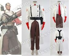 Team Fortress II 2 Medic Suit Outfit Uniform Cosplay Costume Full Set