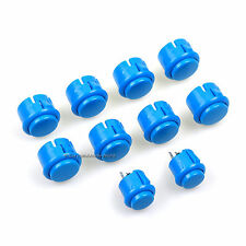 10 pcs/Lot Arcade Push Buttons Replace SANWA OBSF-30 OBSC-24 For MAME Xbox 360