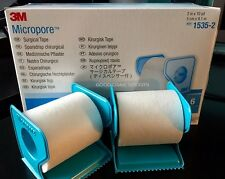 """3M Micropore PAPER Medical Tape WITH DISPENSER 2"""" x 10 yds - 1 to 6 Rolls"""