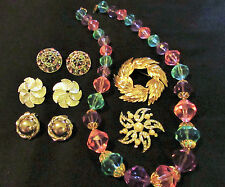 Beautiful Vintage Signed Jewelry Lot Trifari BSK Kramer Excellent Condition