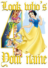 Disney Princess Snow White Personalised Girls T-Shirt Age 4 Ideal Gift/Present
