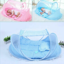Portable Foldable Baby Travel Bed Crib Cradle Mosquito Sleeping Tent Play Shades