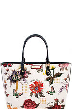 New Multi Color Nicole Lee Anouk Floral Studded Tote Shopper Handbag