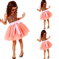 Baby Girls Kids Toddlers Dress Princess Party 2-7Y Tulle Tutu Mini Skirt liau