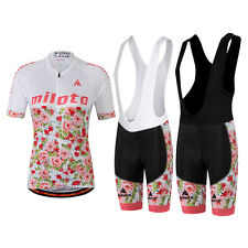 Womens Cycling Clothing Bike Jersey & MTB Bib Shorts Set GEL Pad S-5XL Plus Size