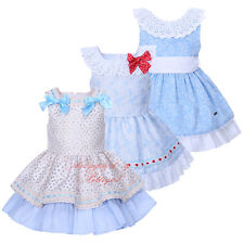 Girl Flower Bow Dress and Headband Set Formal Party Wedding Pageant Communion