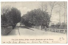 View From Railway Bridge Towards Broadwater & Downs, Sussex, Old Postcard 1905