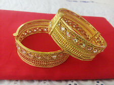South Indian Jewelry Antique Bangle Bollywood Ethnic Gold Plated Traditional