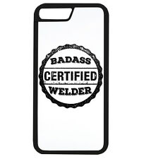 Certified Badass Welder Job Gift Idea Funny Dad Phone Case iPhone Cover