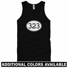 Area Code 323 Unisex Tank Top - Men Women XS-2X - East Los Angeles South Gate LA