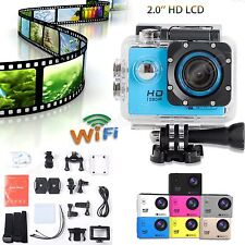 2'' HD 1080P WiFi Sports Waterpoof Camera Helmet Action DV Video Dash Camcorder