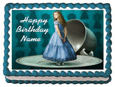 ALICE IN WONDERLAND Party Image Edible Cake topper