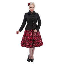 H&R Black Victorian Steampunk Military Jacket - Womens Alternative Coats
